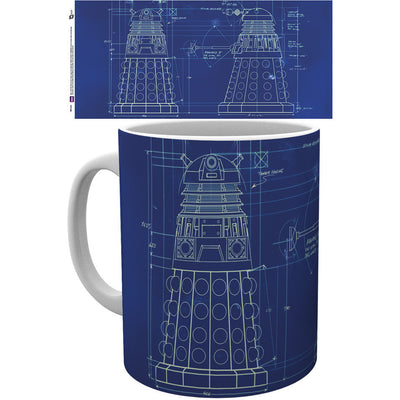 Doctor Who Dalek Blueprint Mug - Knowhere Comics