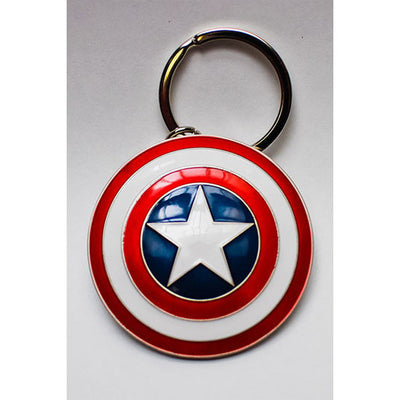 Marvel Comics Metal Keychain Captain America Shield - Knowhere Comics