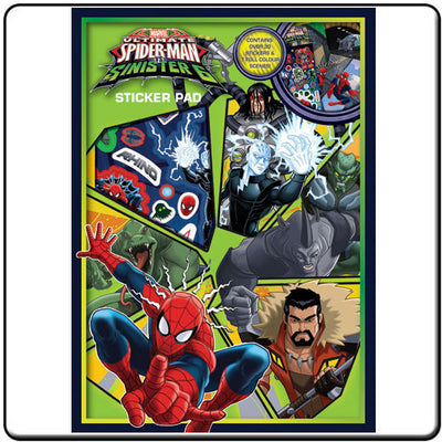 Spider-Man Vs The Sinister 6 Sticker Pad - Knowhere Comics