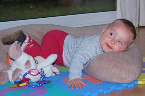 Using Boppy For Tummy Time