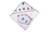 Robot Hooded Towel  and Washcloth Set