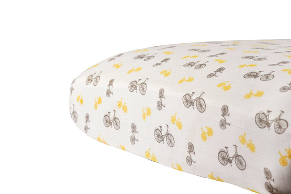 Vintage Bicycle Crib Sheet
