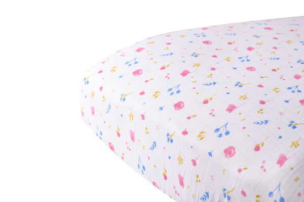 Spring Time Flower Crib Sheet