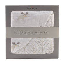 Load image into Gallery viewer, Mister Moose and Forest Arrow Newcastle Blanket