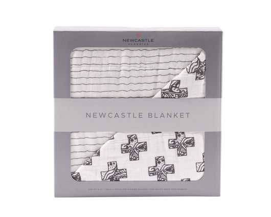 Nordic Cross and Pencil Stripe Newcastle Blanket