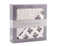 Load image into Gallery viewer, Nordic Cross and Pencil Stripe Newcastle Blanket