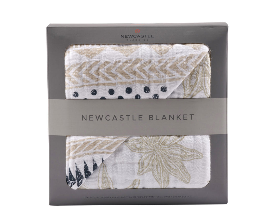 Newcastle Pyramid Print and Star Anise Blanket