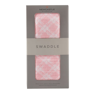 Primrose Pink Plaid Swaddle