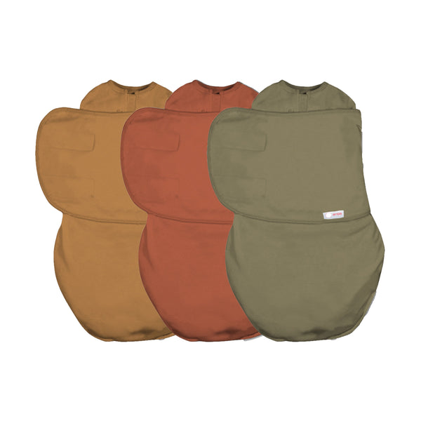 Swaddle Bundle (Rust / Sand / Moss)