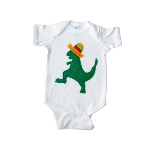 Baby Onesie - Mexican Dancing Dinosaur with Hat - EliteBaby