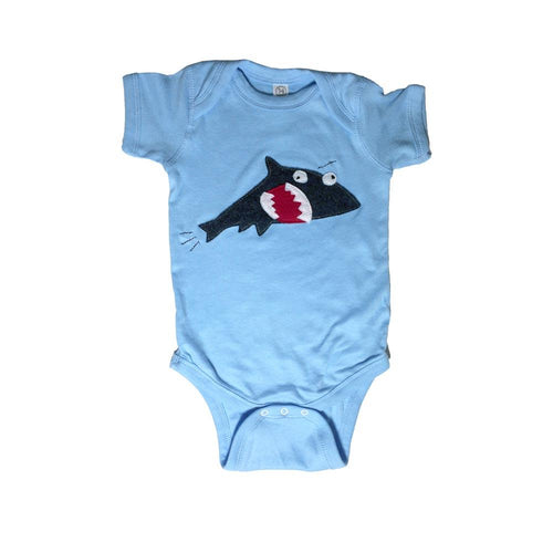 Baby Onesie - Shark + Fish - EliteBaby