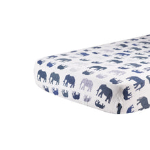 Load image into Gallery viewer, Blue Elephants Crib Sheet - EliteBaby