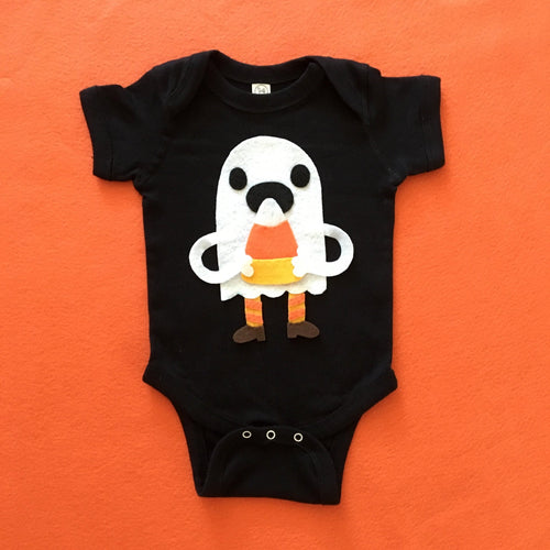 Candy Corn Love Ghost - Baby Bodysuit - Costume - EliteBaby