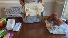 Load and play video in Gallery viewer, Baby Diaper Bag Backpack