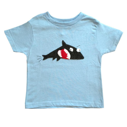 Kids T-shirt - Shark + Fish - EliteBaby