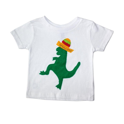 Mexican Dancing Dinosaur with Hat - T-Shirt - EliteBaby