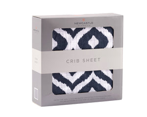 Moroccan Blue Crib Sheet - EliteBaby