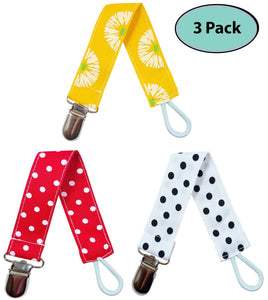 Pacifier Clip Holder for Boys and Girls (Unisex), 3 Pack - EliteBaby