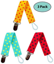 Load image into Gallery viewer, Pacifier Clip Holder for Boys and Girls (Unisex), 3 Pack - EliteBaby