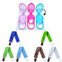 Load image into Gallery viewer, Pacifier Holder Case | 6 Pacifier Holder Clip for Boy Combo - EliteBaby