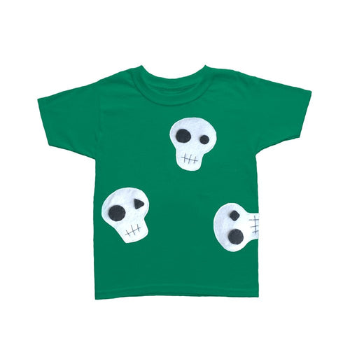 Skulls Can be Cute! - Green and Pink Kids T-Shirt - EliteBaby