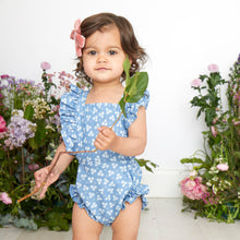 chambray daisy sunsuit
