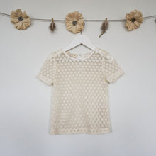 short sleeve lace layering shirt
