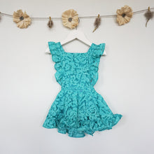 teal lace pinafore