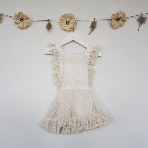 ivory lace pinafore