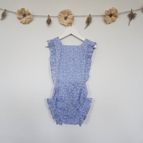 daisy stripe sunsuit