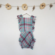 purple plaid sunsuit