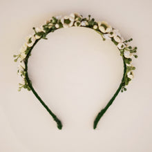 cream flower crown