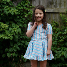 vintage strawberry stripe dress 4t