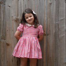 gingham apple dress