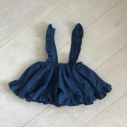 moonlight linen suspender skirt