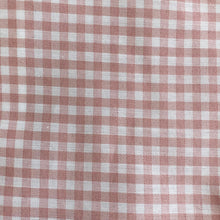 pink gingham dress with peter pan collar