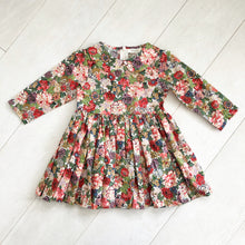 liberty peony dress with peter pan collar