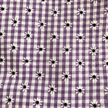 painted purple gingham pinafore