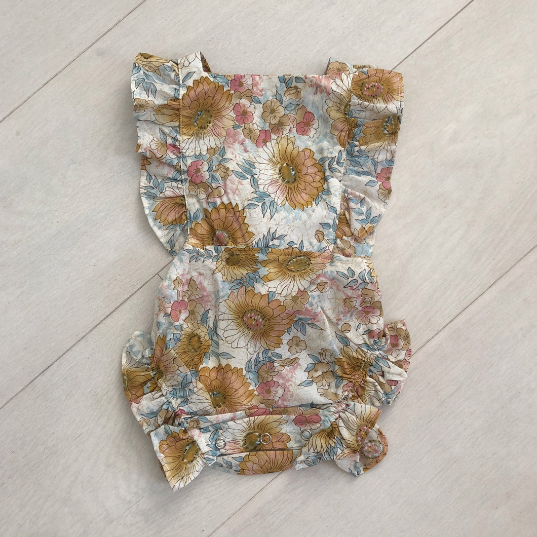 vintage sweet sunflower sunsuit 6/12