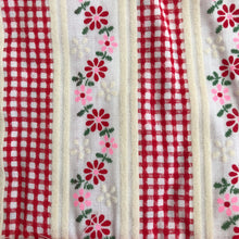 vintage flocked gingham pinafore 12/18