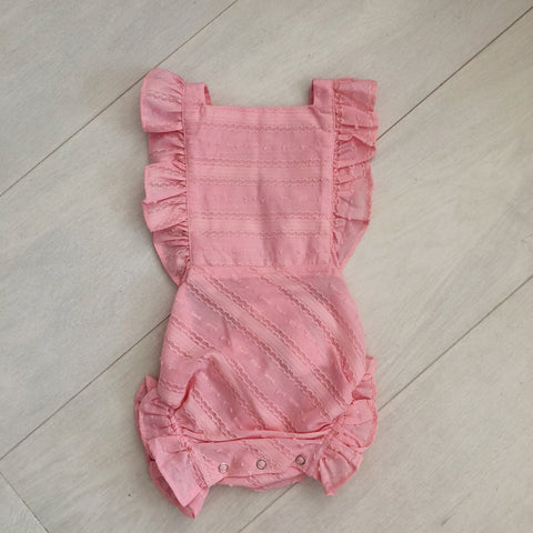vintage pink swiss sunsuit 12/18