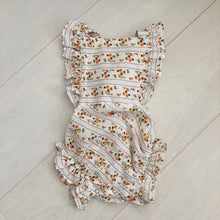 vintage floral stripe sunsuit 12/18