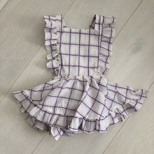 vintage embroidered plaid pinafore 18/24