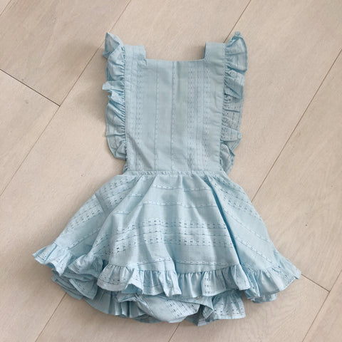 vintage baby blue pinafore 3t