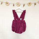 sugarplum corduroy suspender shorts