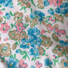 vintage turquoise flowers pinafore 3t