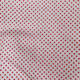 vintage red swiss dot pinafore 4t