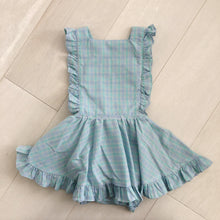 vintage pastel plaid pinafore 4t
