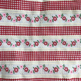 vintage flocked gingham pinafore 5t
