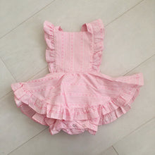 vintage pink princess pinafore 12/18
